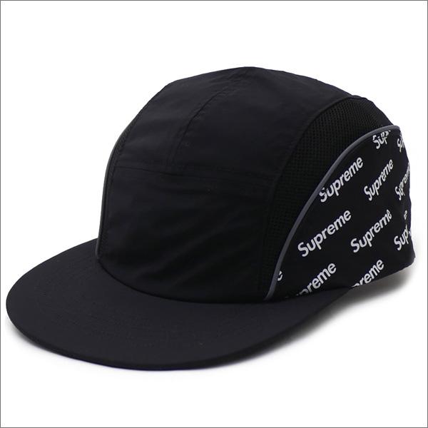 【合計15,000円(税抜)以上のお買い上げでステッカープレゼント!】 SUPREME(シュプリーム) Diagonal Logo Side Panel Camp Cap (キャンプキャップ) BLACK 265-001057-011+【新品】