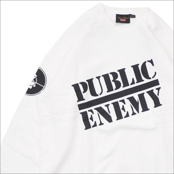 【合計15,000円(税抜)以上のお買い上げでステッカープレゼント!】 SUPREME(シュプリーム) x UNDERCOVER(アンダーカバー) x Public Enemy Crewneck Sweatshirt WHITE 418-000318-060+【新品】