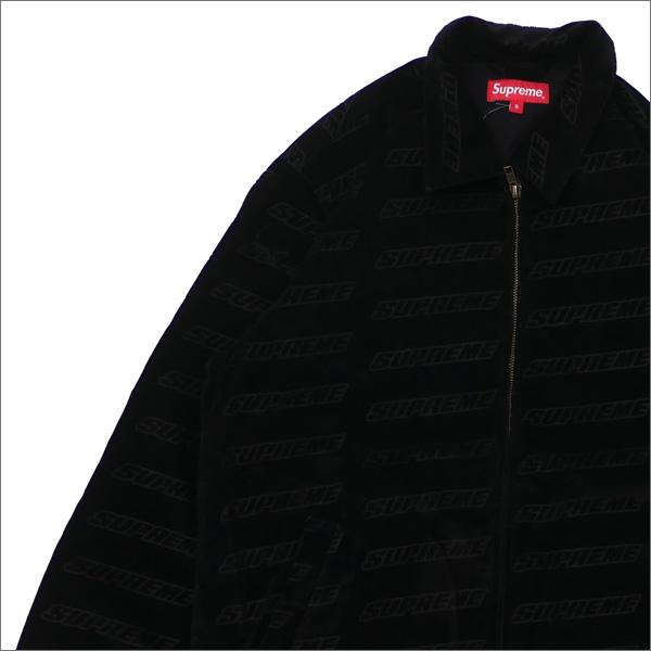 【合計15,000円(税抜)以上のお買い上げでステッカープレゼント!】 SUPREME(シュプリーム) Debossed Logo Corduroy Jacket (ジャケット) BLACK 418-000327-031+【新品】