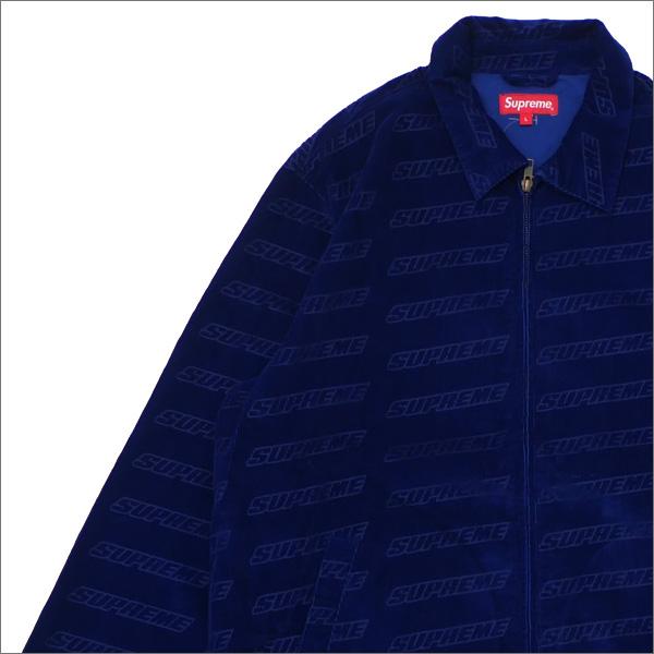 【合計15,000円(税抜)以上のお買い上げでステッカープレゼント!】 SUPREME(シュプリーム) Debossed Logo Corduroy Jacket (ジャケット) ROYAL 418-000327-054+【新品】