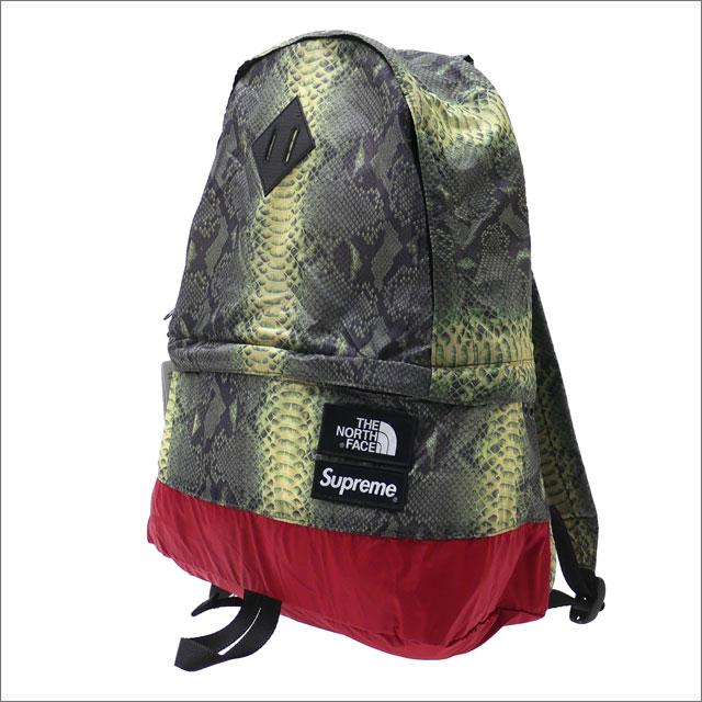 【合計15,000円(税抜)以上のお買い上げでステッカープレゼント!】 SUPREME(シュプリーム) x THE NORTH FACE(ザ・ノースフェイス) Snakeskin Lightweight Day Pack (デイパック) GREEN 276-000290-115+【新品】
