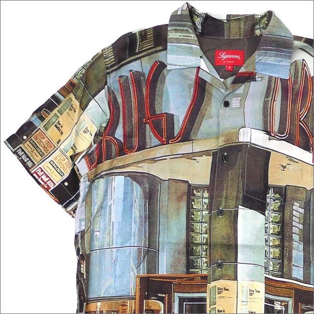 【合計15,000円(税抜)以上のお買い上げでステッカープレゼント!】 SUPREME(シュプリーム) Drugs Rayon Shirt (半袖シャツ) MULTICOLOR 215-001298-139+【新品】