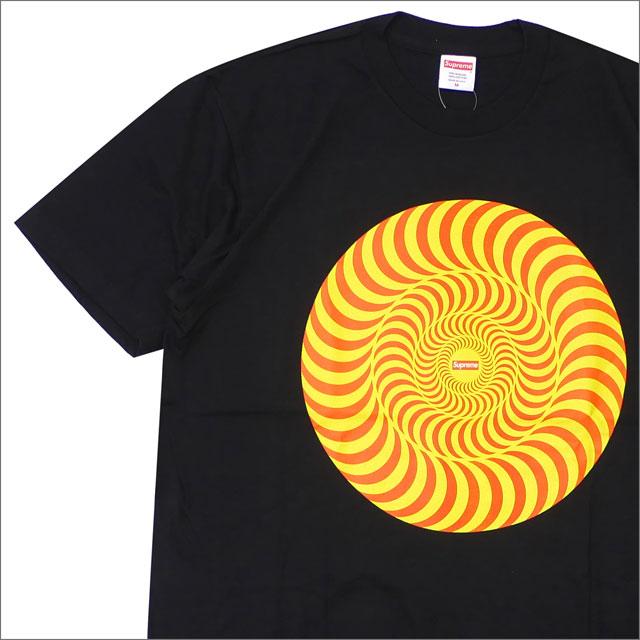【合計15,000円(税抜)以上のお買い上げでステッカープレゼント!】 SUPREME(シュプリーム) x SPITFIRE (スピットファイア) Classic Swirl T-Shirt (Tシャツ) BLACK 200-007874-041+【新品】