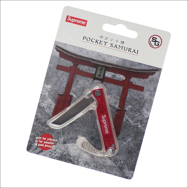 【合計15,000円(税抜)以上のお買い上げでステッカープレゼント!】 SUPREME(シュプリーム) StatGear Pocket Samurai (キーチェーン)(ナイフ) RED 278-000483-113+【新品】