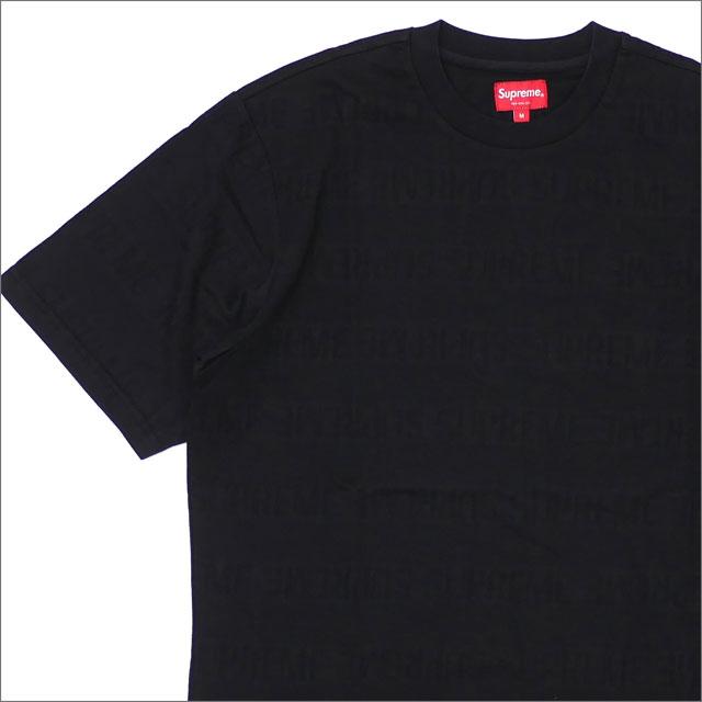 【合計15,000円(税抜)以上のお買い上げでステッカープレゼント!】 SUPREME(シュプリーム) Mesh Stripe Top (Tシャツ) BLACK 203-000293-041+【新品】