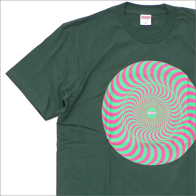 SUPREME(シュプリーム) x SPITFIRE (スピットファイア) Classic Swirl T-Shirt (Tシャツ) GREEN 200-007874-041+【新品】