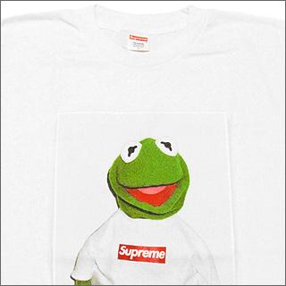 SUPREME (shupurimu) Kermit The Frog T shirt WHITE