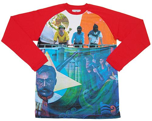 SUPREME(슈프림) ZAPATISTA 러글랜 T셔츠 RED