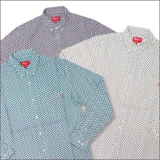 最高 (shupurimu) 佩斯利牛津长袖衬衫 216-000285-040 [☆ ★]