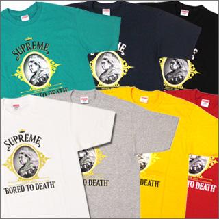 SUPREME (shupurimu) Bored To Death T shirts 200-003370-043-[☆ ★], [U]
