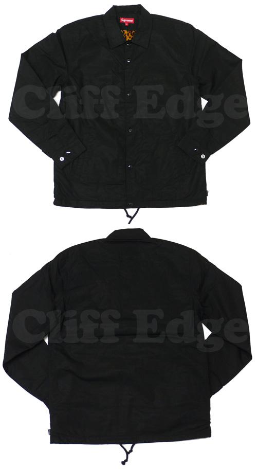 SUPREME (슈 프림) Leopard Lined Coaches 재킷 BLACK 230-000402-041x [☆]