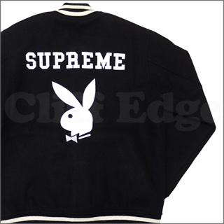 SUPREME (슈 프림) x Playboy (플레이보이) Varsity Jacket [スタジャン] BLACK 227-000065-051 327-000004-041x [☆.]