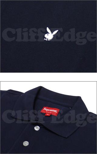 SUPREME (슈 프림) x Playboy (플레이보이) pique 반 소매 폴로 셔츠 218-000210-040x [☆]