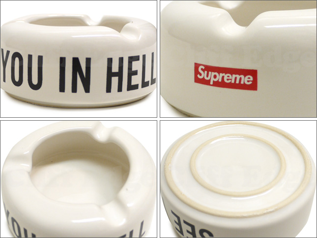 SUPREME (슈 프림) SEE YOU IN HELL CERAMIC ASHTRAY [재떨이] 290-001584-010 390-000021-011x [☆.]