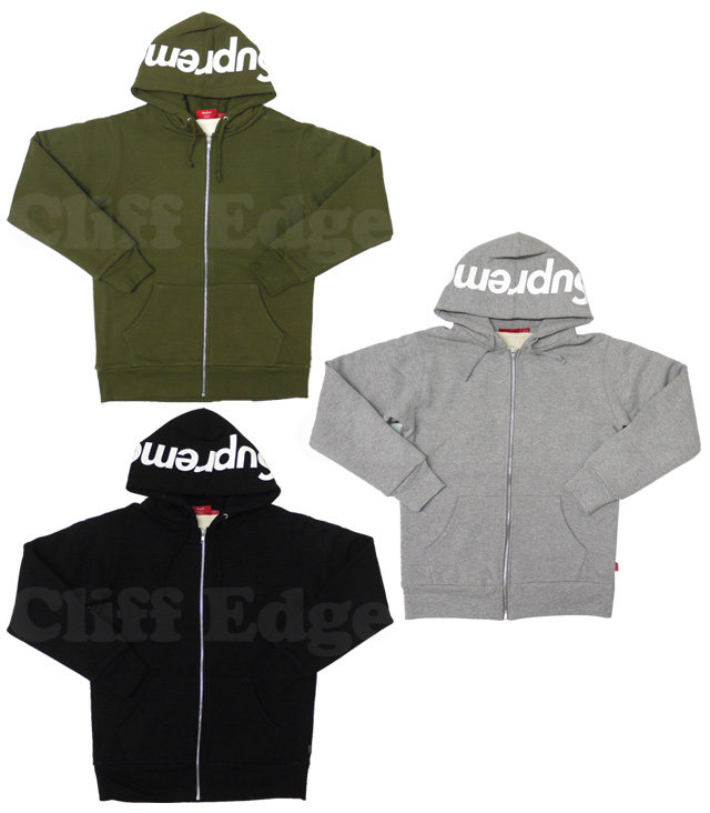 SUPREME(슈프림) HOOD LOGO THERMAL ZIP-UP파커212-000585-031- [☆★]