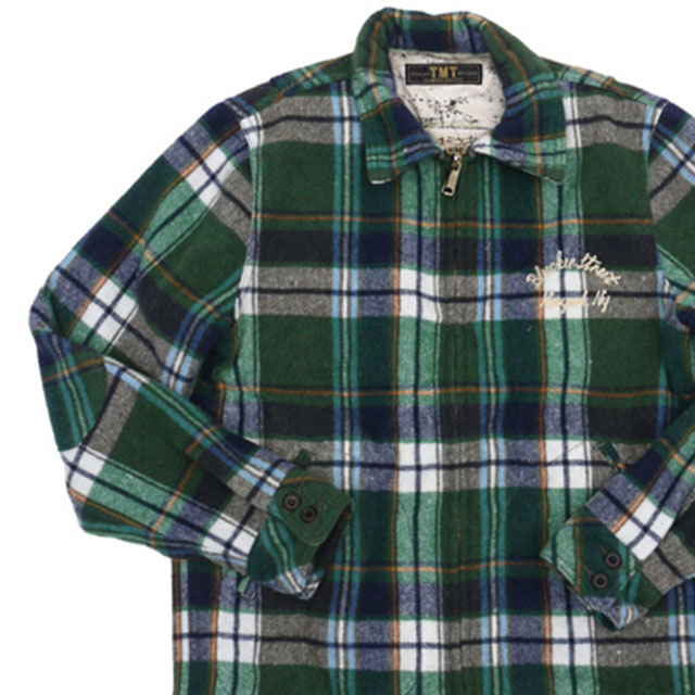 TMT WOOL CHECK CPO JACKET [ジャケット]GREEN 330-000095-043-【新品】