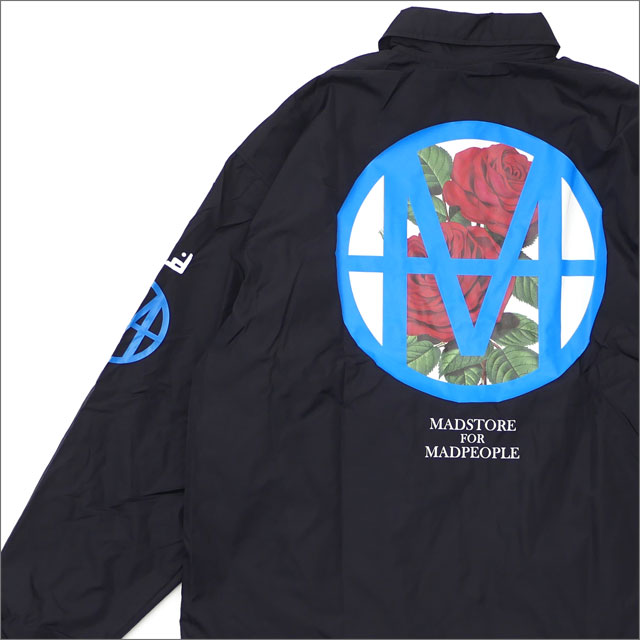 UNDERCOVER(アンダーカバー) MADCIRCLE ROSE COACH JACKET (コーチジャケット) BLACK 225-000375-031x【新品】