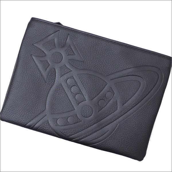 Vivienne Westwood (ヴィヴィアン・ウエストウッド) HAMILTON CLUTCH BAG (クラッチバッグ) BLACK 277-002443-011x【新品】