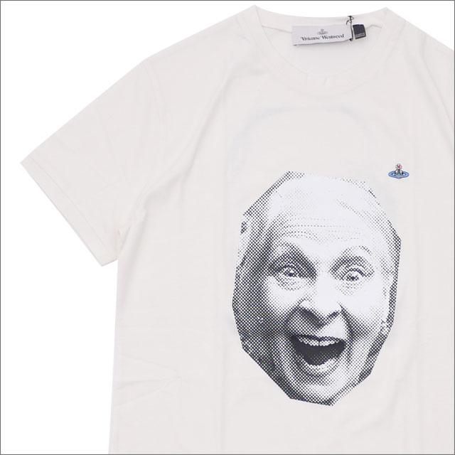 [次回のお買い物で使える500円OFFクーポン配布中!! 4/30(火)まで!!] Vivienne Westwood ヴィヴィアン・ウエストウッド FACE PRINT TSHIRT Tシャツ WHITE 200007693040 【新品】