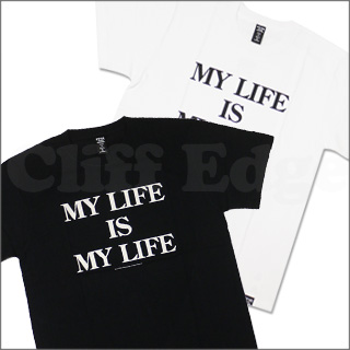 40% AGAINST RIGHTS (포티파센트아게인스트라이트) (W) TAPS(다브르탑스) MY LIFE IS MY LIFE T셔츠200-004229-040-