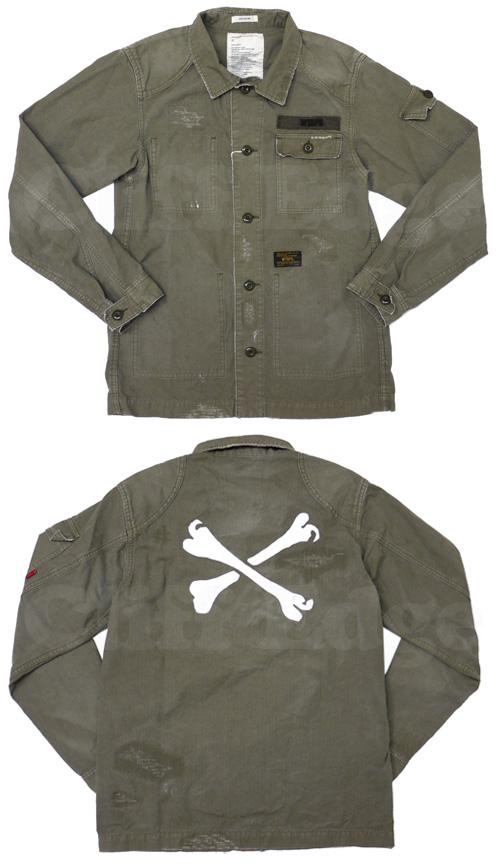 (W) TAPS (ダブルタップス) JUNGLE 긴 소매 셔츠 OD 216-000716-045-