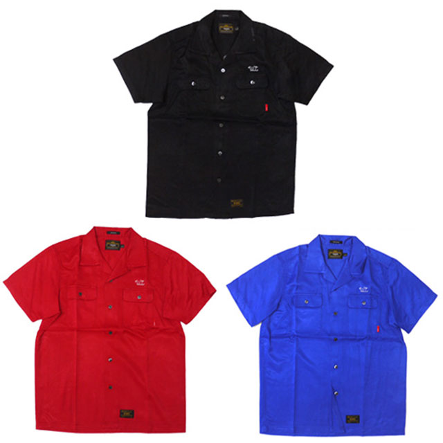 WTAPS VATOS RACO SATIN 半袖シャツ BLACK RED BLUE 215001069031 【新品】 315000027031