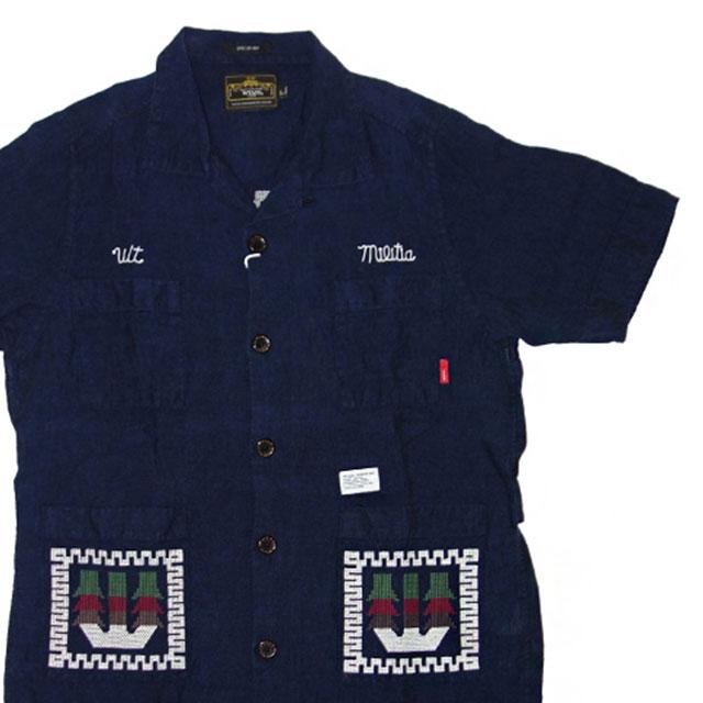(W)TAPS GUAYABERA 半袖シャツ BLACK 215-001079-031-【新品】315-000031-051