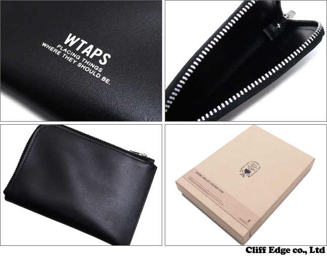 WTAPS CREAM WALLET. LEATHER. COW (지갑/지갑) 271-000332-016x