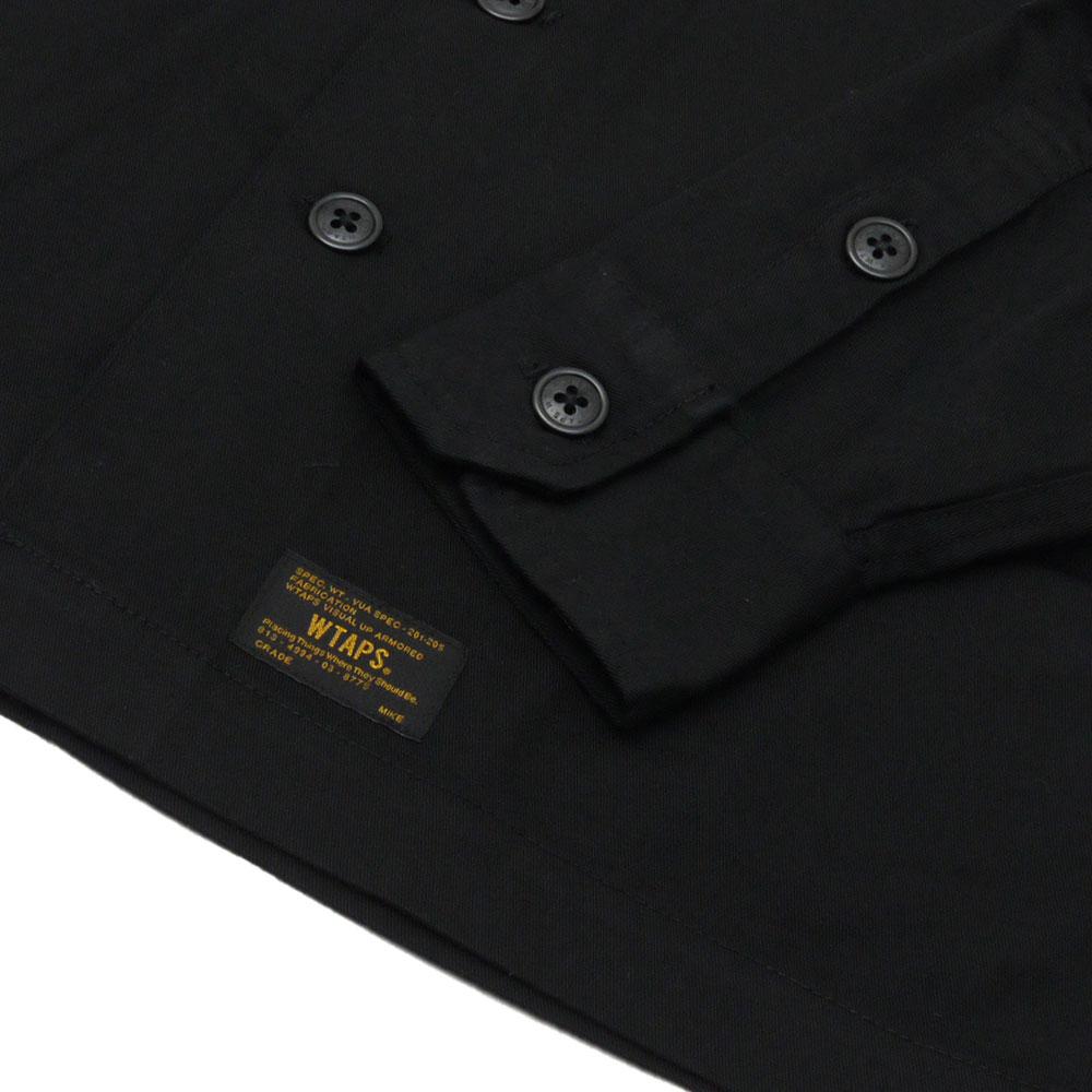 WTAPS (다브르탑스) BUDS LS SHIRT.COPO.SERGE (긴소매 셔츠) BLACK 216-001405-031+