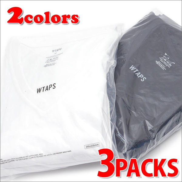 WTAPS (ダブルタップス) SKIVVIES.TEE/V (Tシャツ 3枚セット) 200-007036-040-【新品】
