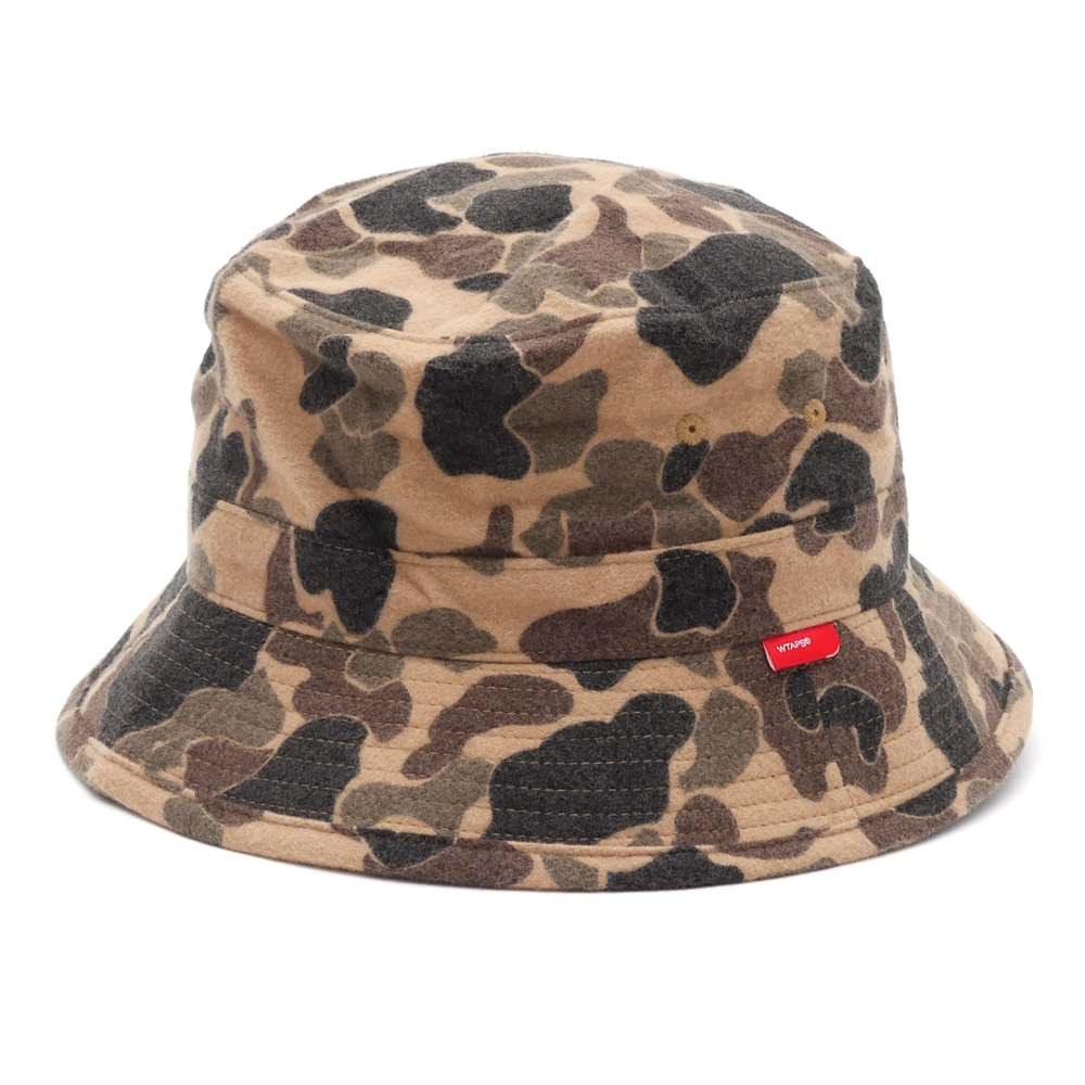 WTAPS(双发快射)BUCKET HAT HAT.COTTON.CAMO(帽子)BEIGE 252-000345-056-