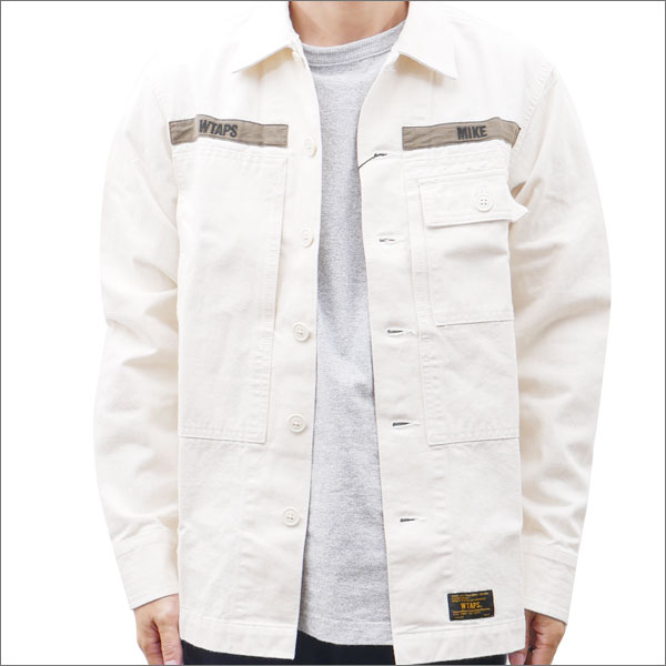 WTAPS (ダブルタップス) HBT LS 01 SHIRT (長袖シャツ) OFF WHITE 216-001419-040x【新品】