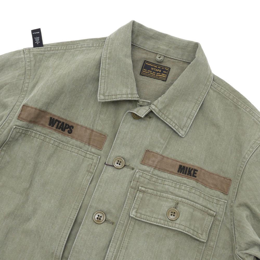 WTAPS (ダブルタップス) HBT LS 01 SHIRT (긴 소매 셔츠) OD 216-001419-035x