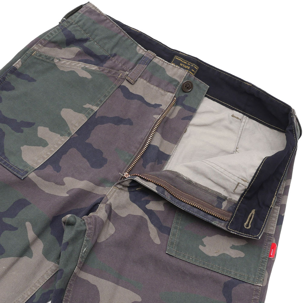 WTAPS (다브르탑스) BUDS 02/TROUSERS.COTTON.CHINO.CAMO (팬츠) WOODLAND CAMO 249-000537-035-