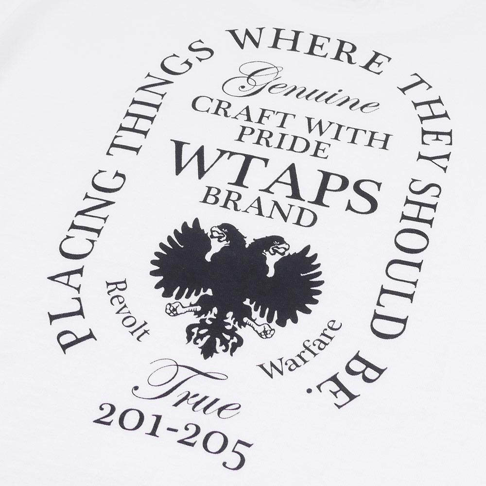 WTAPS DESIGN LS HERALDRY/TEE.COTTON.LOOPWHEEL (long sleeves T-shirt) 171ATDT-CSM07 202-000847-031-