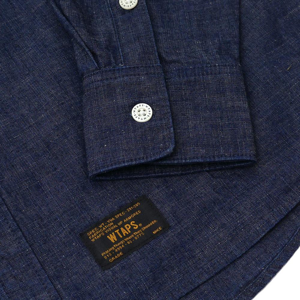 WTAPS (다브르탑스) ALLMAN LS/SHIRT.COTTON.CHAMBRAY (긴소매 셔츠) 171 GWDT-SHM06 INDIGO 216-001476-047-