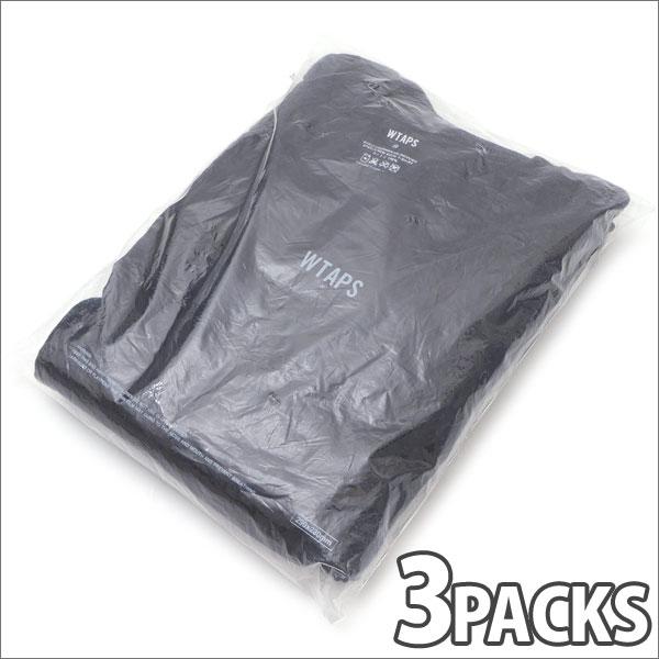[次回のお買い物で使える500円OFFクーポン配布中!! 4/30(火)まで!!] ダブルタップス WTAPS SKIVVIES.TEEC Tシャツ 3枚セット BLACK 200007436031 【新品】 (W)TAPS