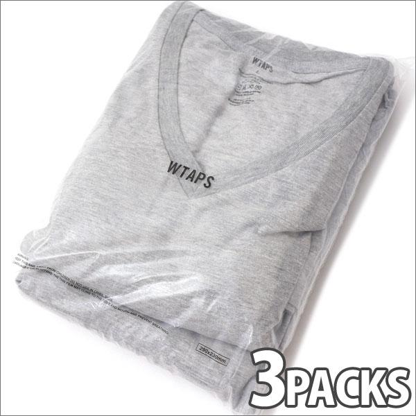 WTAPS (ダブルタップス) SKIVVIES.TEE-V (Tシャツ 3枚セット) GRAY 200-007440-052-【新品】