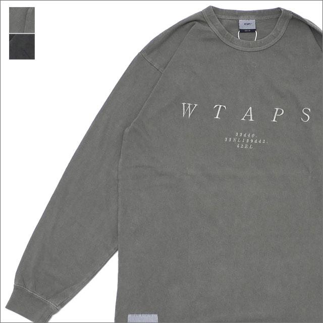 WTAPS (ダブルタップス) DESIGN LS SYS TEE (長袖Tシャツ) 181ATDT-CSM17 202-000953-055-【新品】