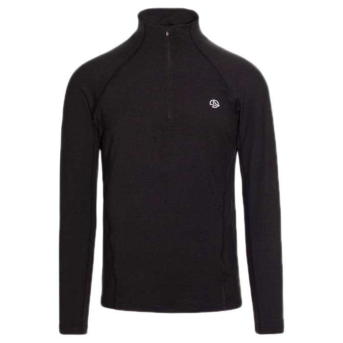 [ テルヌア ] Mode 1/2 Zip アンダーウェアTシャツ ( Black )