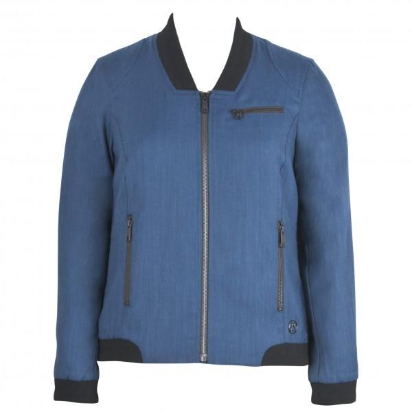 ALCHEMY EQUIPMENT アルケミーエキップメント Wool/Linen Bomber ウーマン ( Blue )