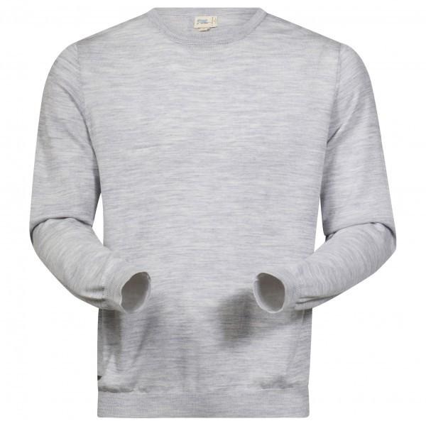 BERGANS ベルガンス Fivel Wool L/S プルオーバー(Aluminium Melange)