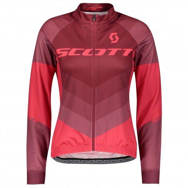 【おすすめ】 スコット RC AS L/Sl シャツ サイクリング ジャージ レディース(Tibetan Red / Azalea Pink), リビングデイ a9564a39