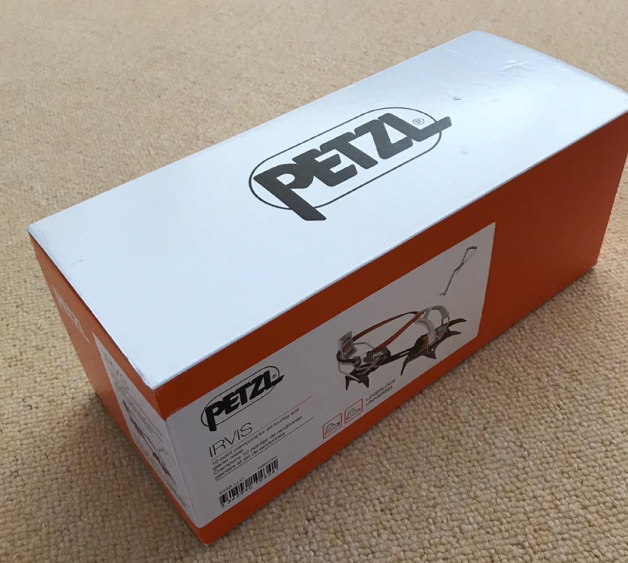 【即納・訳あり】PETZL ペツル Irvis Leverlock Universel(Black / Orange)10本爪★ウインターギア・アイゼン・クランポン・雪山装備★