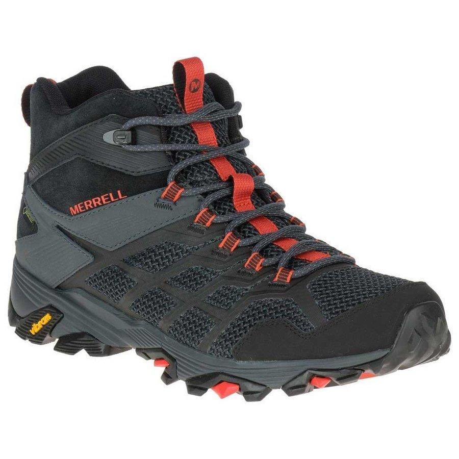 [ メレル ] Moab FST 2 Mid ( Black / Granite ) ★ 登山靴 ・ 靴 ・ 登山 ・ アウトドアシューズ ・ 山歩き ★