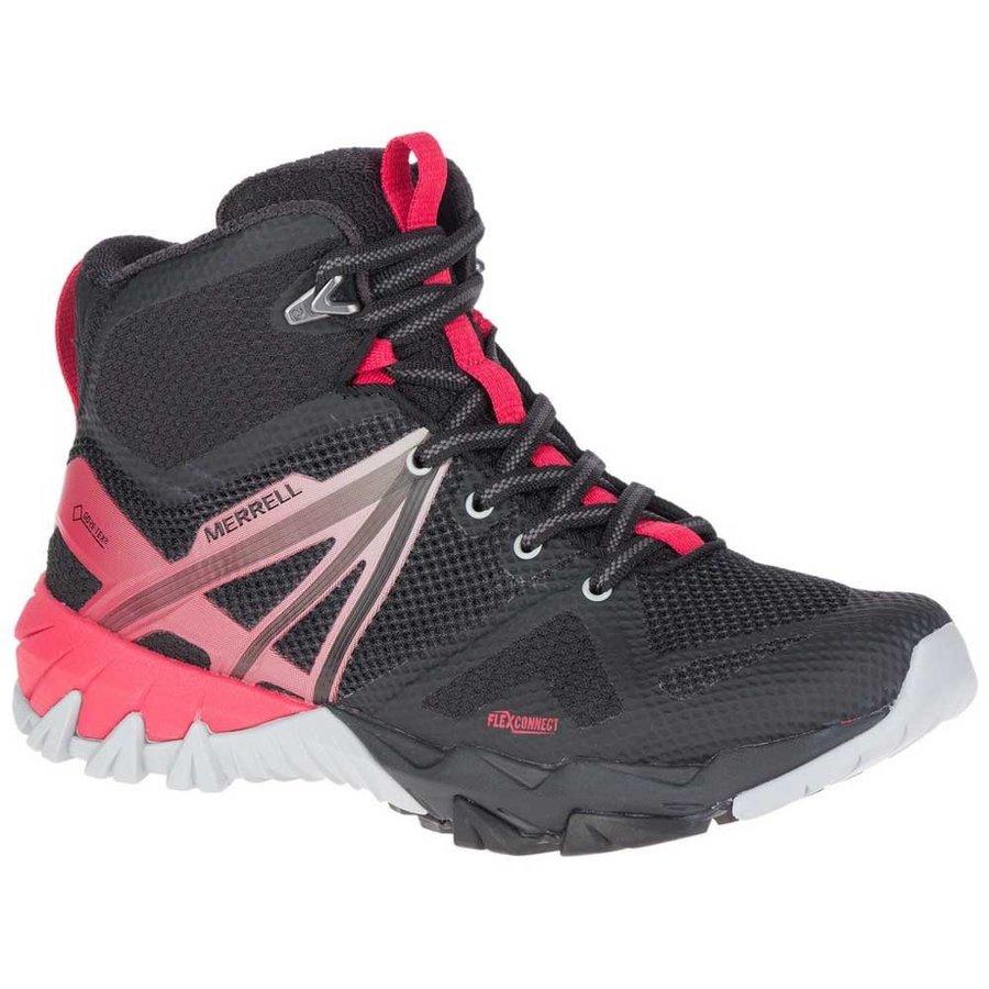 [メレル]MQM Flex Mid Goretex(Black / Lollipop)★登山靴・靴・登山・アウトドアシューズ・山歩き★