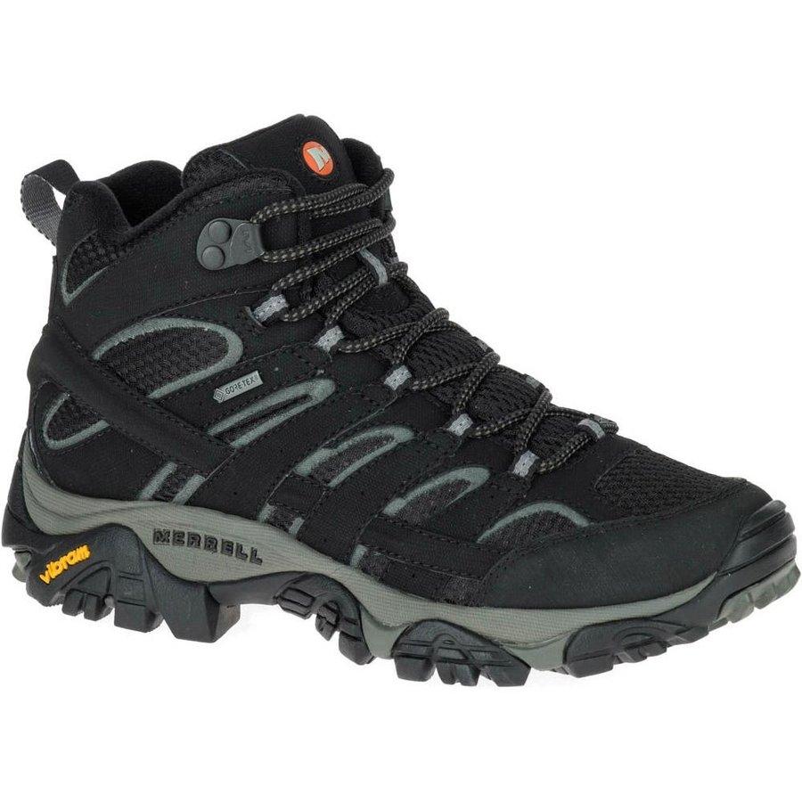 [ メレル ] Moab 2 Mid Goretex ウーマン ( Black ) ★ 登山靴 ・ 靴 ・ 登山 ・ アウトドアシューズ ・ 山歩き ★