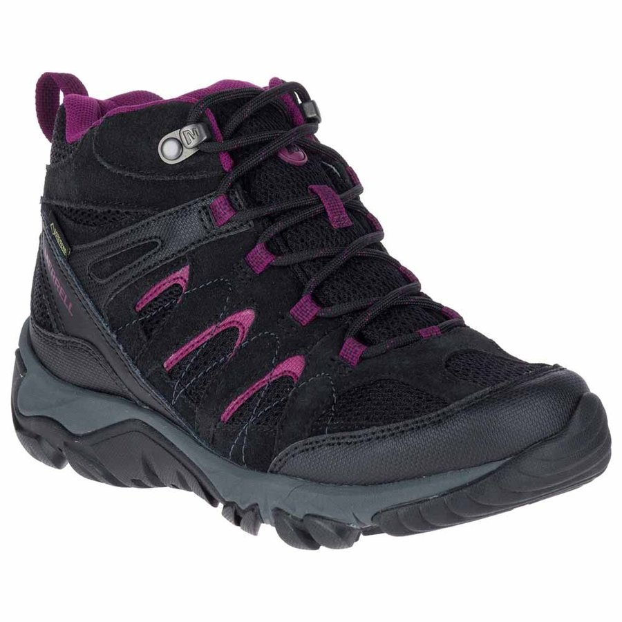 [ メレル ] Outmost Mid Vent Goretex ウーマン ( Black ) ★ 登山靴 ・ 靴 ・ 登山 ・ アウトドアシューズ ・ 山歩き ★
