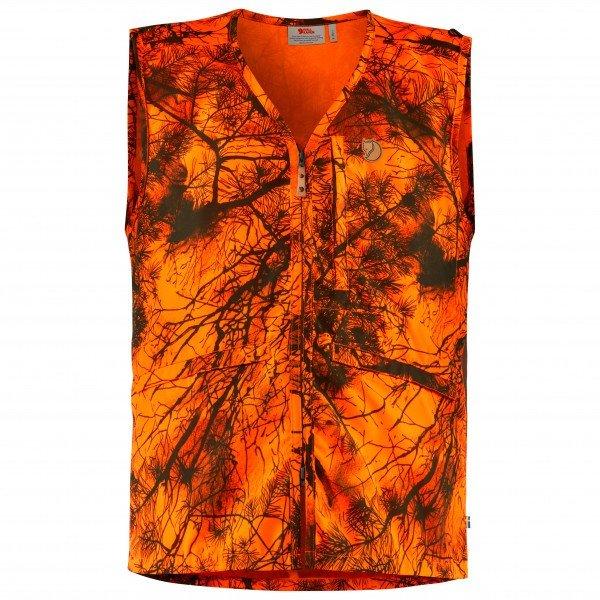 フェールラーベン Varmland ソフトシェルベスト(Orange Camo)