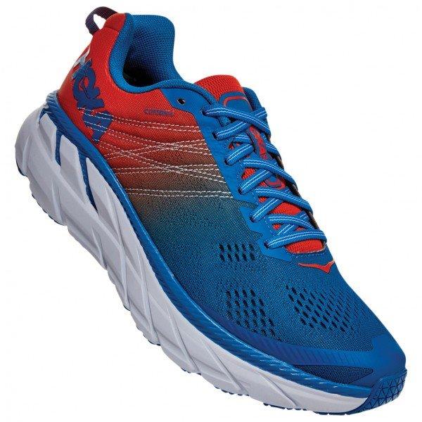 ホカ オネオネ Clifton 6 ( Mandarin Red / Imperial Blue ) ★ トレイルラン ・ 山歩き ・ アウトドアシューズ ・ 靴 ・ 登山 ★